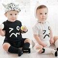 2016 Verão Macacão de Bebê Menino Macacão de Bebê Menino Macacão de Bebê Romper Manga Curta Roupas Vestidos Meninas Roupas Bebes