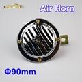 12 V Bocina de Aire Eléctrica 90mm Bobina De Aluminio de Color Cromo Fuerte para Bici de la Motocicleta Del Carro Del Coche