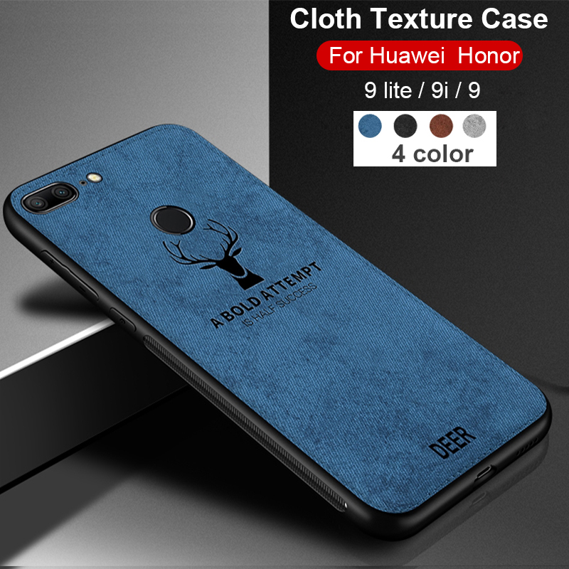 Case On For Huawei <font><b>Honor</b></font> 20 10 <font><b>9</b></font> <font><b>lite</b></font> light 8x Cloth Fabric Cover Bumper On huawey honer 20 10lite 9lite honor8x 9i cases couqe image