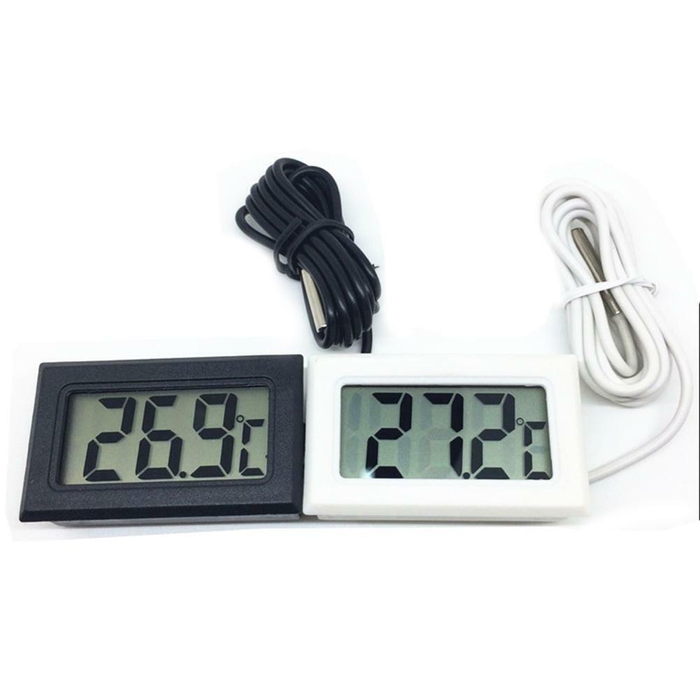 Mini Digital LCD Thermometer Sensor Convenient Hygrometer Gauge Refrigerator Aquarium Monitoring Display Humidity Detector