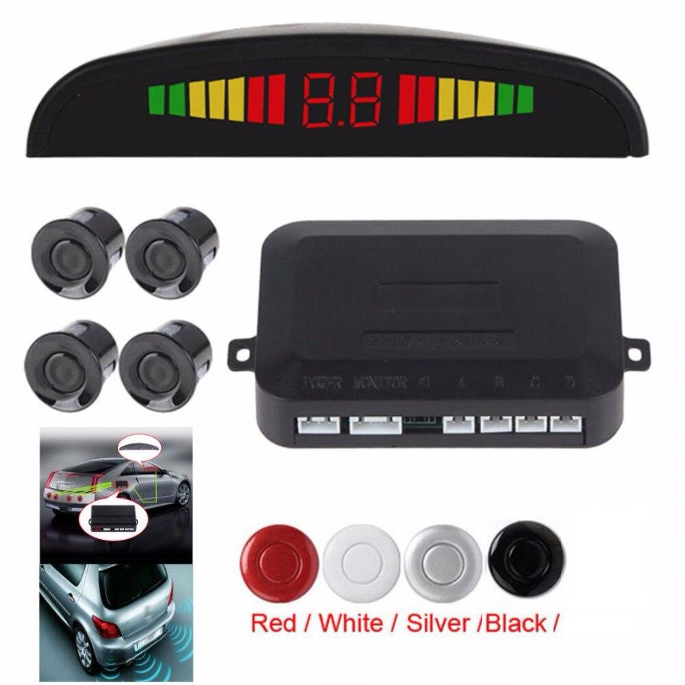 Reversing-Radar Sound-Alert-System Car 4-Sensors Buzzer Parking-Assistance Auto-Monitor