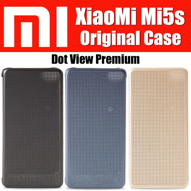 imágenes para Xiaomi caso Mi5s Smartwake Original Cubierta Del Caso Del Tirón Cubierta Protectora PC + PU de Cuero Para Xiaomi MI5S MI5S Pulgadas 5.15 Caja al por menor