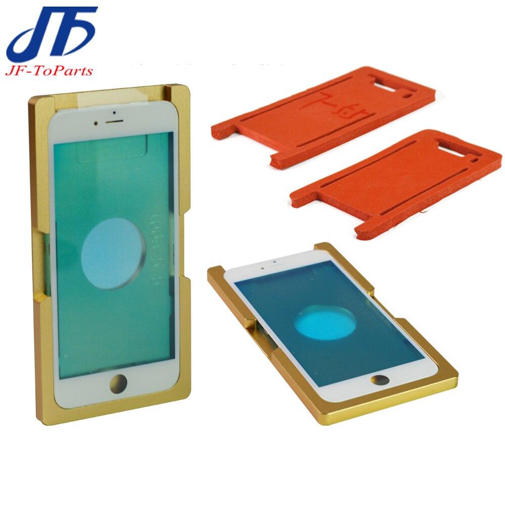 1 satz 2 stücke Präzision aluminium form Für iphone 7 plus 7g 8g 8 p X Laminator form metall front glas mit rahmen Standort oca benutzer