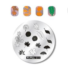 Get more info on the 1 PC 5.6cm Round Nail Art Stamp Stamping Plates Leaves Flower DIY Nail Stamp Template Manicure Nail Stencils Stamping zjoys-011