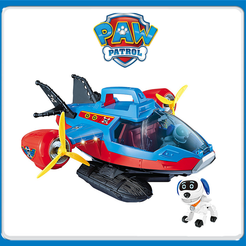Paw Patrol Toys Dog Air patrol aircraft Base Toys Set Patrulla Canina Anime Action Figures Model
