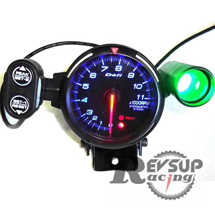 Defi Racer 80mm Blue Light 11000rpm Shift Light Tachometer