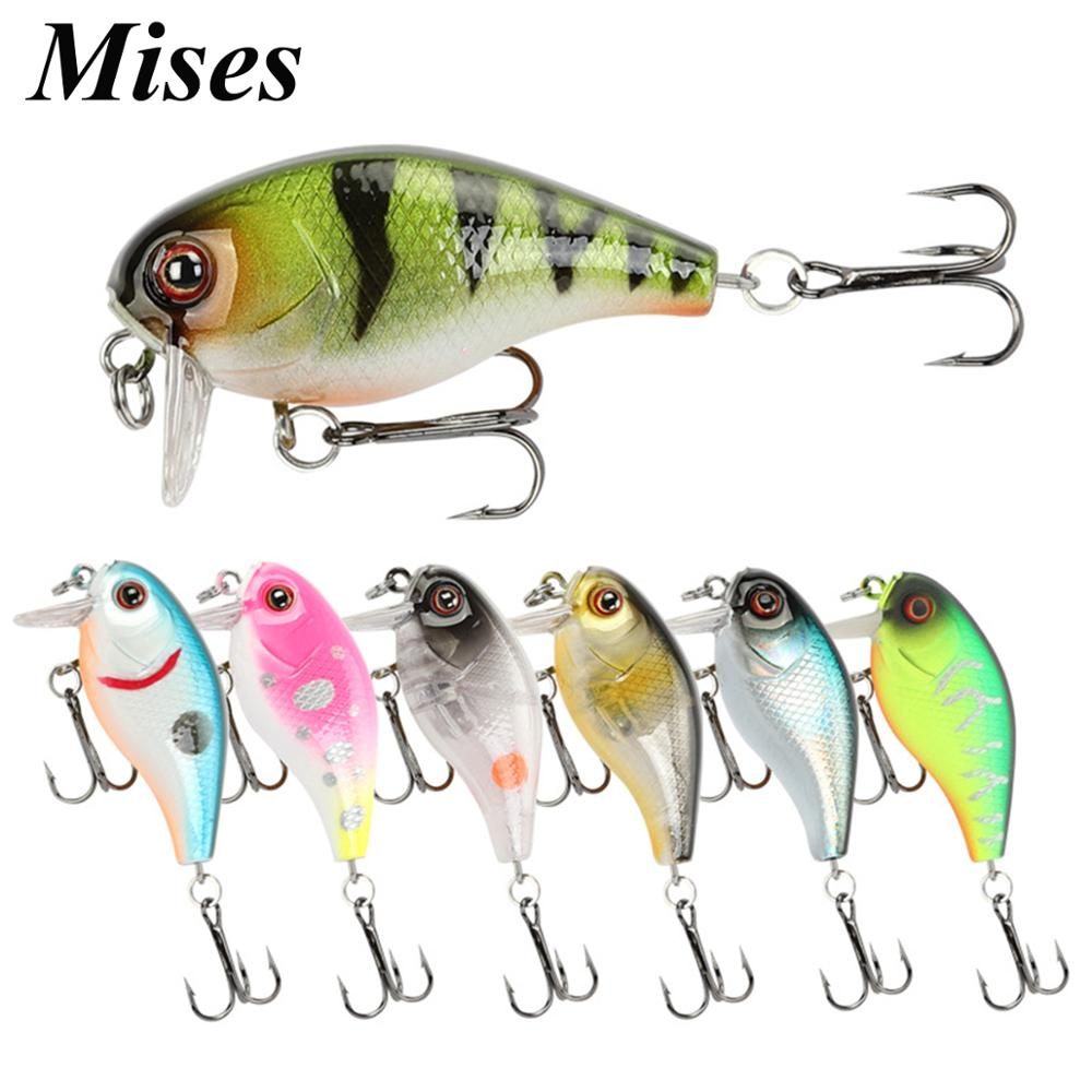 Mises 3.8cm 4.6g Twelve Colors Mini Floating Bionic Crank Little Fatty Lure Artificial Hard Bait Fishing Lure Fishing Tackles