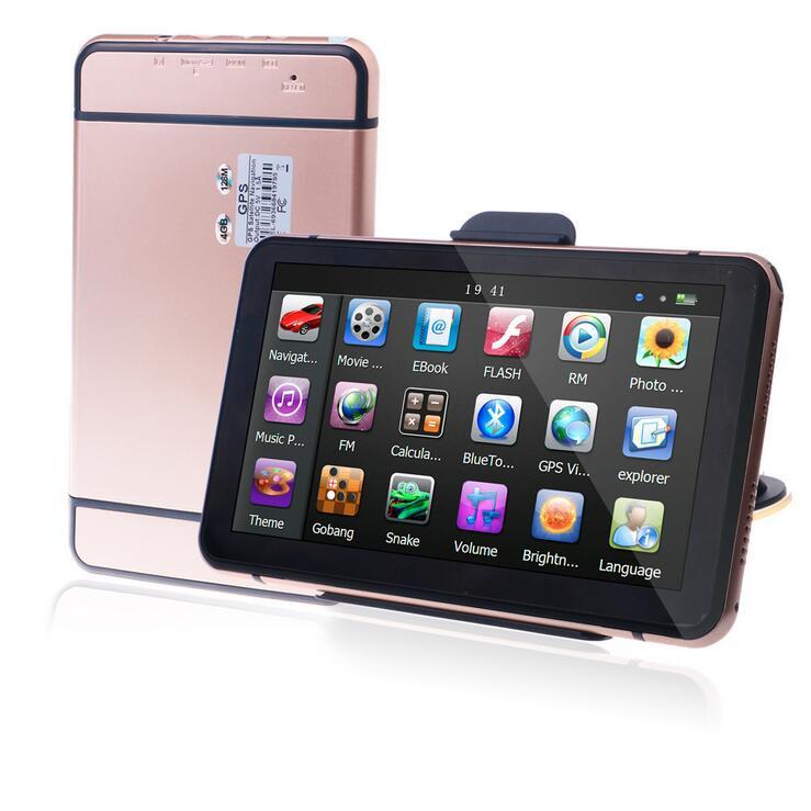 7 inch HD Car GPS Navigation FM 8GB 128M DDR Map Free Upgrade Navitel Europe Sat nav Truck GPS Navigators Automobile