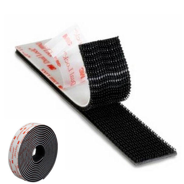 Black Velcro Hook or Loop Tape Sew On or PSA Adhesive