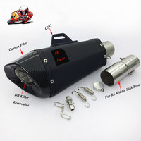 Motorcycle Full Exhaust System Slip on For YAMAHA R6 YZF 2006 2016 Exhaust Muffler Pipe
