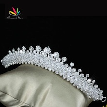 Peacock Star Bridal Wedding Party Quality Sparkling Austrian Crystal Tiara Comb CT1502