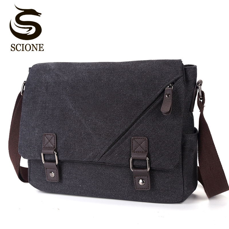 2018 Men Messenger Bags Canvas Leather Men's Handbags Travel Duffel Shoulder Bags Vintage Male Briefcase for School Teenagers augur canvas leather men messenger bags military vintage tote briefcase satchel crossbody bags women school travel shoulder bags
