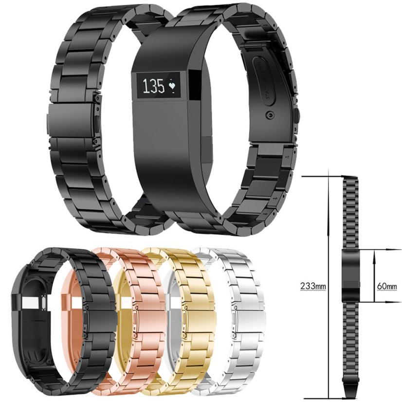 Нержавеющаясталь ремешок на запястье замена Браслет для FitBit Charge HR золотые часы новый дропшиппинг Апрель 3