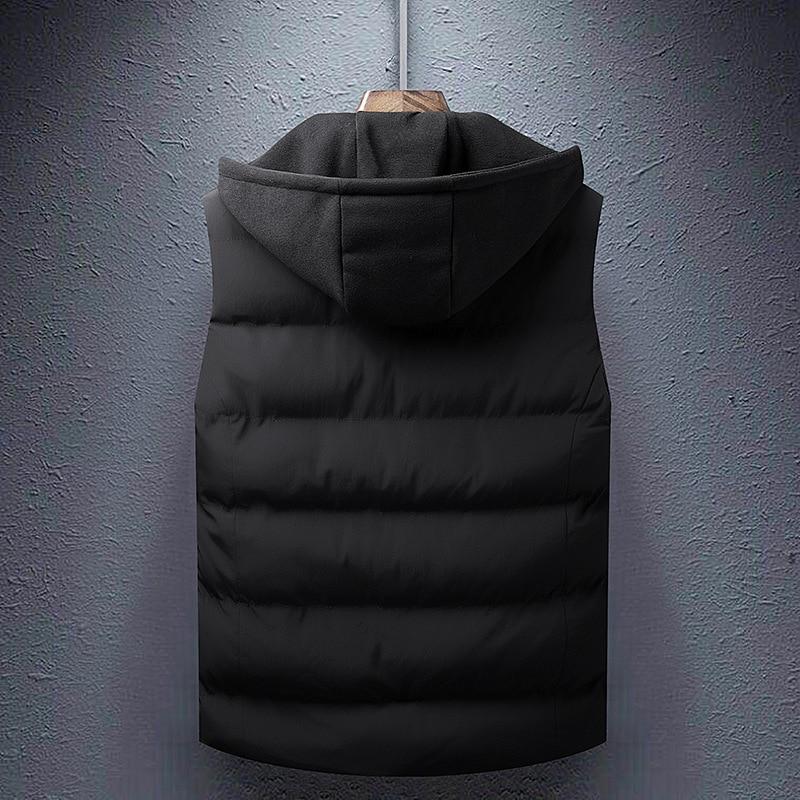 rembourré Black Gilet Casual Capuche Mince Veste De Arrivée Manteau Manches Mâle army Chaud Épaissir À Coton Nouvelle Sans Hiver Hommes Green UYnZwxxqAF