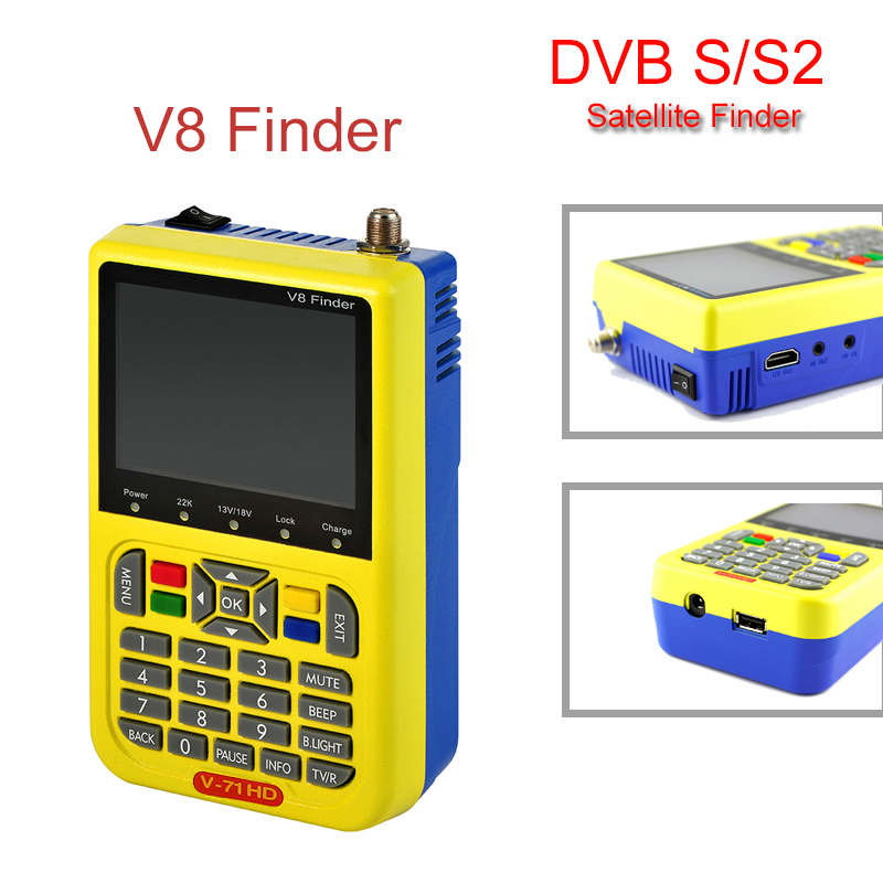 [Genuine]V8 Finder DVB S/S2 High Definition Support 1080P HD MPEG 4 With 3.5 inch LCD Display Satellite Signal Finder