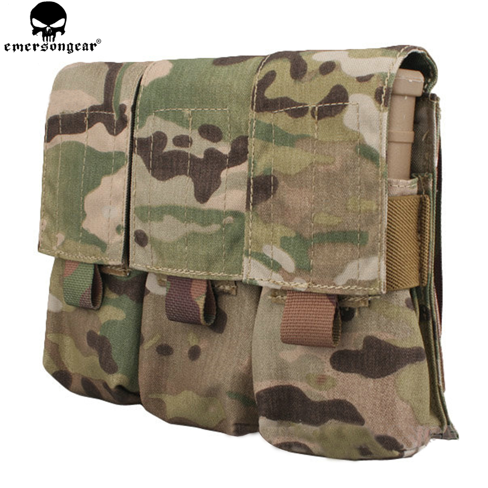 EMERSONGEAR LBT Style M4 Triple Pistol Mag Pouch Molle Military Airsoft Paintball საბრძოლო Gear Gun ჟურნალი Pouch EM6352