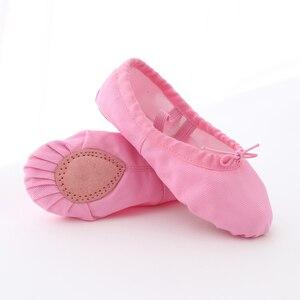Image 2 - Çocuk dans ayakkabıları yumuşak tuval kızlar dans ayakkabıları yüksek kaliteli dans terlik dans bale ayakkabıları