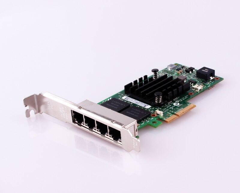 Сетевая карта PCI-Express pcie x4 четыре rj45 Gigabit Порты серверный адаптер NIC I350-T4