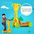 Equilibrio Scooter de Niños de 4 Ruedas Scooter de Pedal de Aprendizaje Multi-función Regalos Para Childrencartoon Scooter