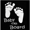 New Type Baby On Board Foot Section Of Small Feet Footprints Baby Car Reflective Warning Car Stickers 10 Pcs/Lot