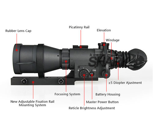 US $723 62 | Eagleeye Canis Latrans 5X MAK 410 Night Vision Rifle Scope For  Hunting Shooting HS27 0014-in Night Visions from Sports & Entertainment on