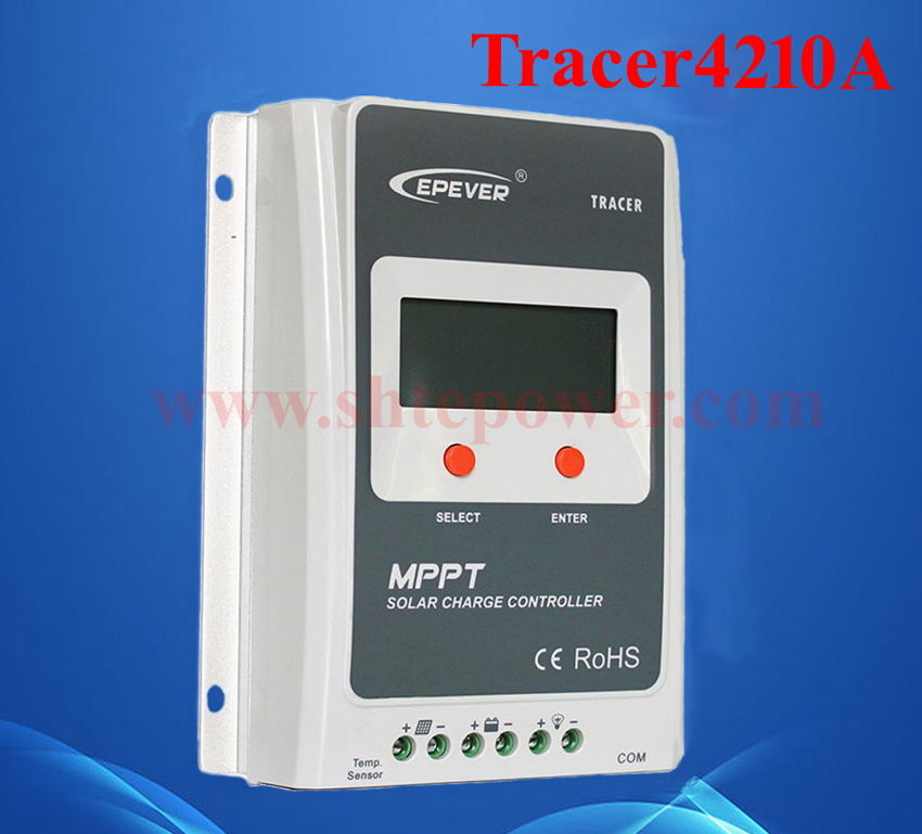 Tracer4210A 40amp mppt solar controller 12v 24v auto work with LCD display 12v 24v auto work solar power bank regulators with usb cable and wifi box connect function tracer4210a mppt free shipping