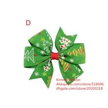 200 шт Рождественские Елочные банты для волос