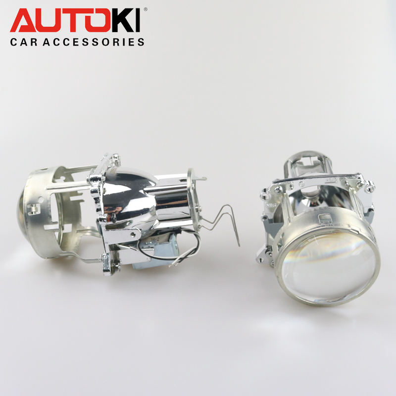 Free Shipping Autoki 3 0inch Bos ch E46r H7 D2S Bi xenon Projector Lens Replacement for