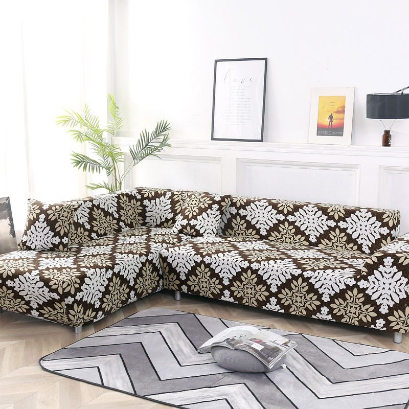 2 Piece Sofa Cover for L Shaped Corner Couch with Double Reinforcement Suitable for Living Room 5