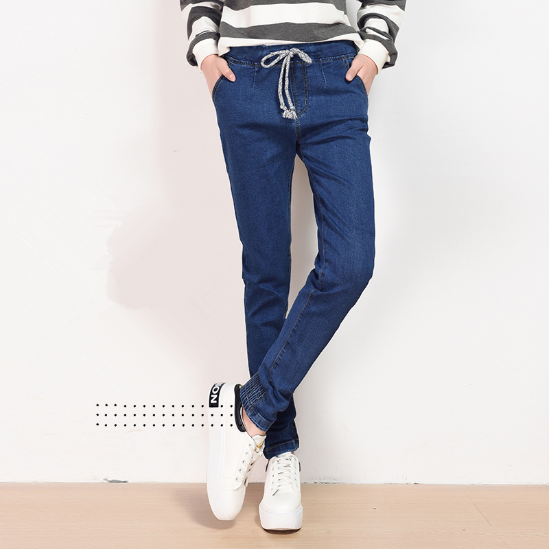 Autumn Fashion High Waist jeans 2016 High Elastic plus size Women Jeans woman famle washed casual skinny Harem Denim pants autumn fashion high waist jeans high