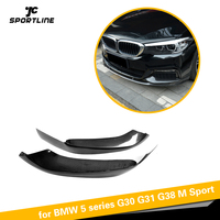 Carbon Fiber / FRP For BMW 5 Series G30 G31 520i 530i 540i M Sport 2017 2019 Front Bumper Lip Splitters Apron Winglets