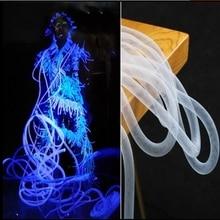 1.5cm Elastic Twisted Molding Tube Translucent Telescopic Handmade Diy Garment Design Creative Accessories Hollowing fabric C629