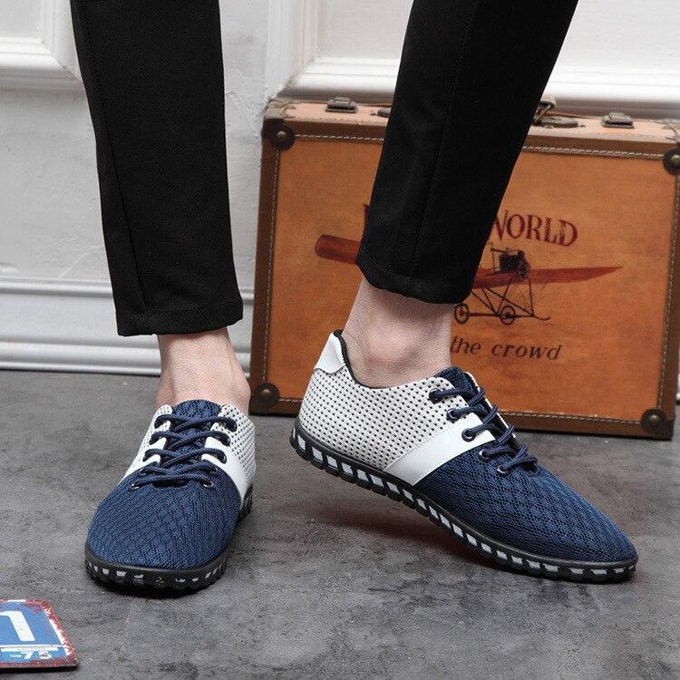 azul Da Homens Sapatos Prova Preto Malha Sola Odor De Dos Macia Forma E sapatos Novos Ventilado qxZR5Y