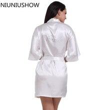 Модные невесты халат сексуальный Для женщин короткие свадебные кимоно Халаты пижамы Ночная рубашка платье женщина халат пижамы Размеры S-XXL