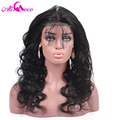 Pre Plucked 360 Lace Frontal Closure Brazilian Virgin Hair Body Wave Natural Hairline Lace Band Frontal Closure With Baby Hair