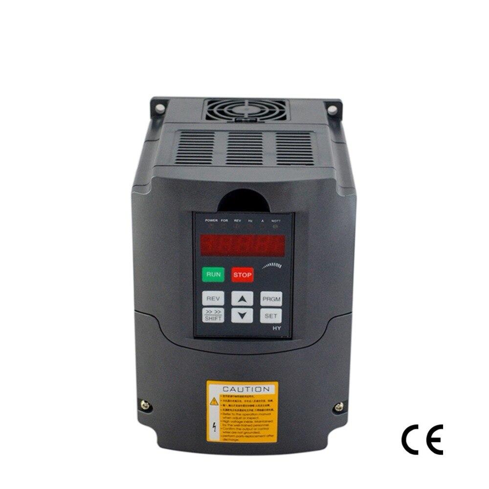 Fréquence onduleur 4KW 220 v 5HP 18A entraînement à fréquence variable inverter moteur de broche vitesse contrôleur vfd