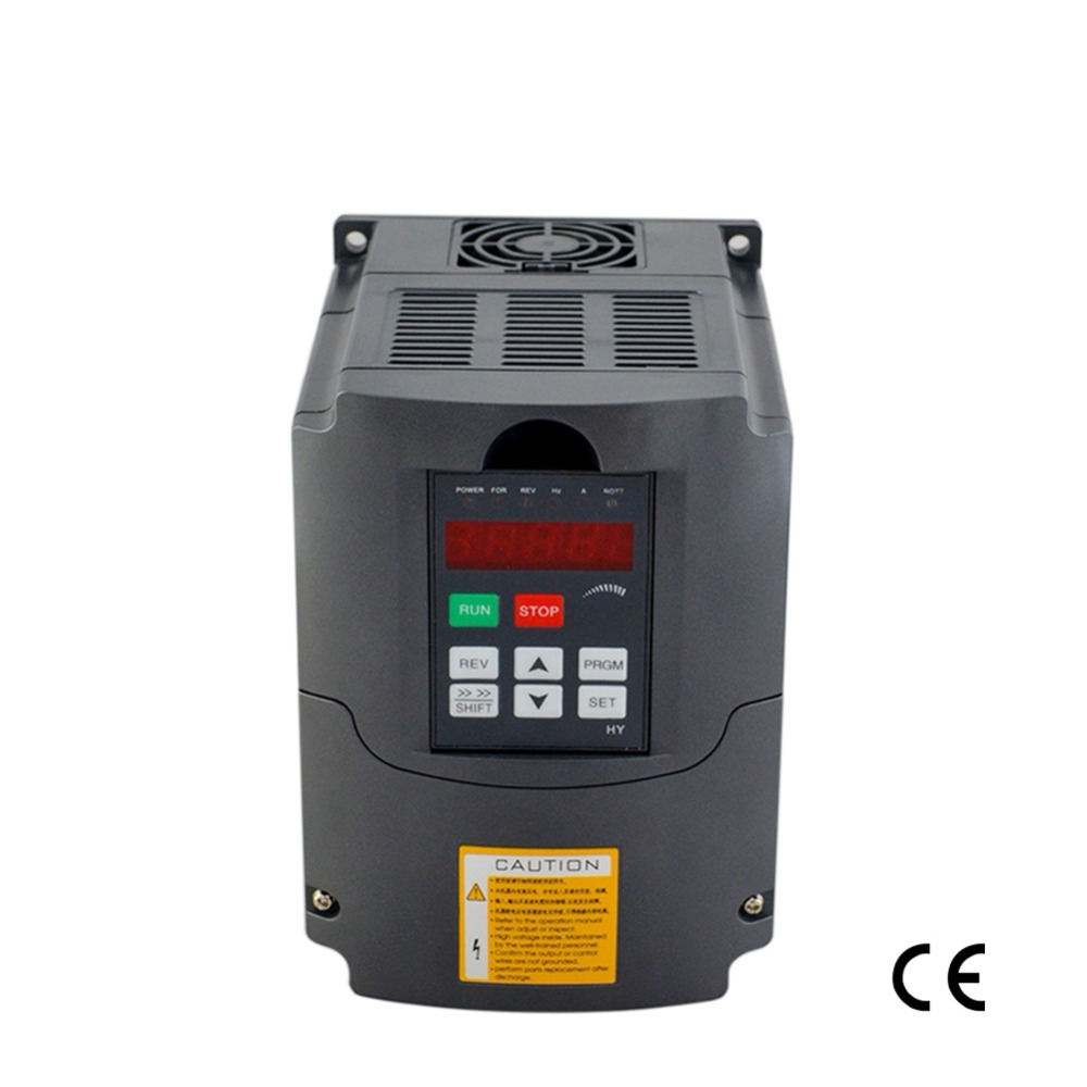 цена frequency inverter 4KW 220V 5HP 18A variable frequency drive inverter spindle motor speed controller vfd