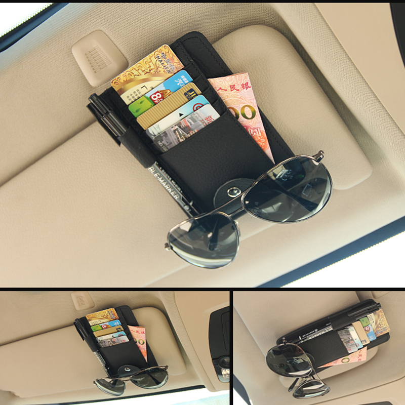 kanuoc Genuine Leather Car Sunshade Card Case For Skoda Superb Octavia A7 A5 2 Fabia Rapid Yeti Mitsubishi Asx Lancer 10 Outland car usb sd aux adapter digital music changer mp3 converter for skoda octavia 2007 2011 fits select oem radios