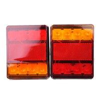 lamp dc 12v DC 12V Truck HL-I-008 8LED Two-color Taillights Stop Rear Tail Brake Lights Lamp (5)