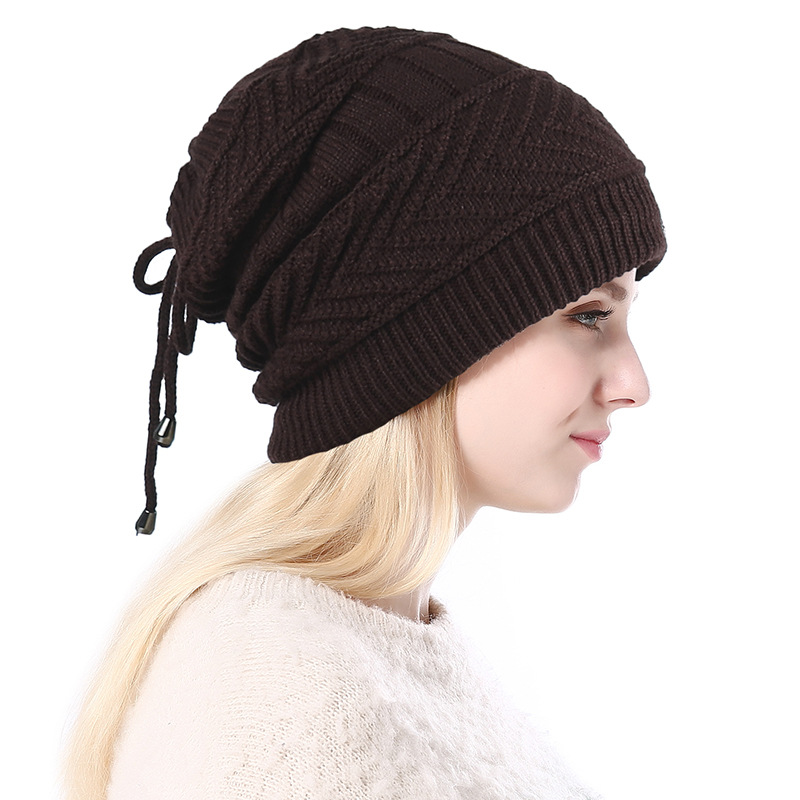 2019 Winter Women Knitted Hat Beanie Warm Skullies Beanies Winter Hats For Men Plus Velvet Caps Hip Hop Bonnet Women's Hats New