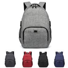 Men Women Multipurpose Canvas Wear Resistant Adjustable Strap Backpack Zipper Large Capacity Rucksack Detachable Shoulder