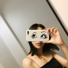 Fashion Trend Selfie Eye phone Cases For iPhone 6 6S 7 8 PLUS X XR XS MAX TPU IMD Soft Shell Phone Cover for iPhone 7 Case