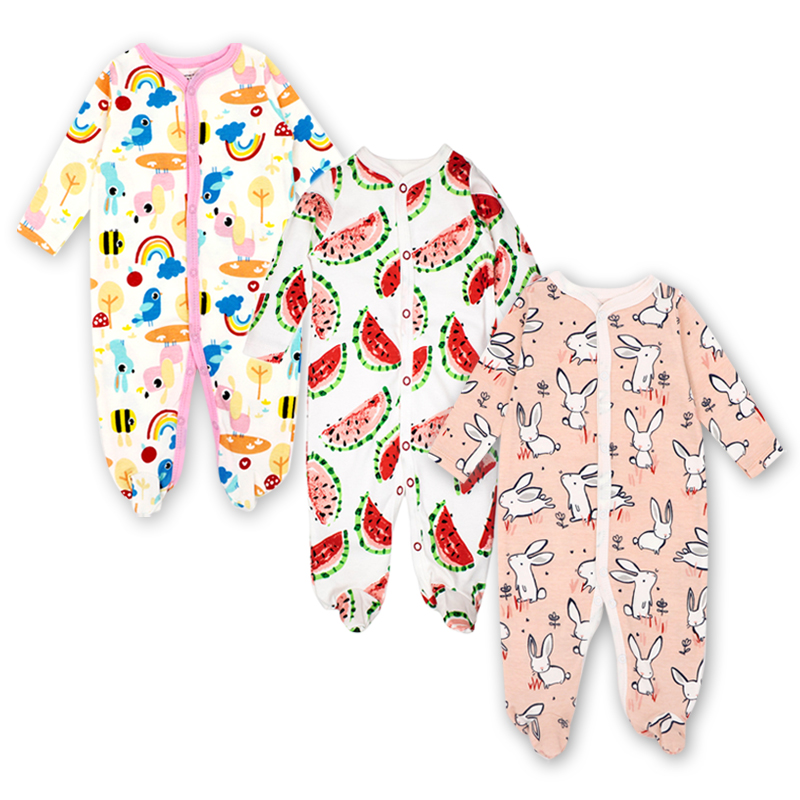 3Pcs Newborn Rompers Carter Baby Boys Girl Clothes Long Sleeve Cute Cartoon Print Outfits Infant Jumpsuit Baby clothing Sets infant baby girl boy clothes rompers long sleeve stripe cute romper jumpsuit outfits baby boys girls clothes