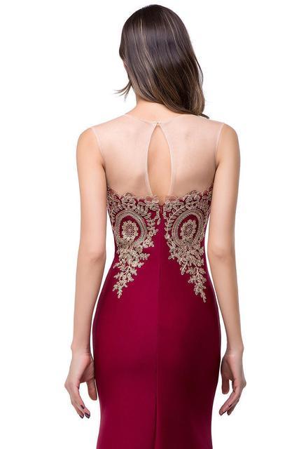 Sexy Backless Appliques Burgundy Mermaid Lace Long Prom Dresses Royal Blue Black Evening Party Dress Vestido de Festa Longo 3