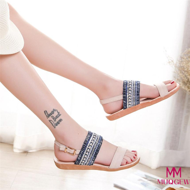 Women Bohemia Slippers Flip Flops Flat Sandals Toe Beach Gladiator Ankle ladies Summer shoes female sandalias zapatos de mujer стоимость