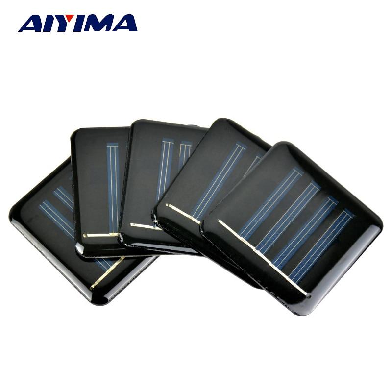 Aiyima 10Pcs Mini Solar Panels 2V 150mA 55*55MM Solar Cells For DIY Scientific Experiment