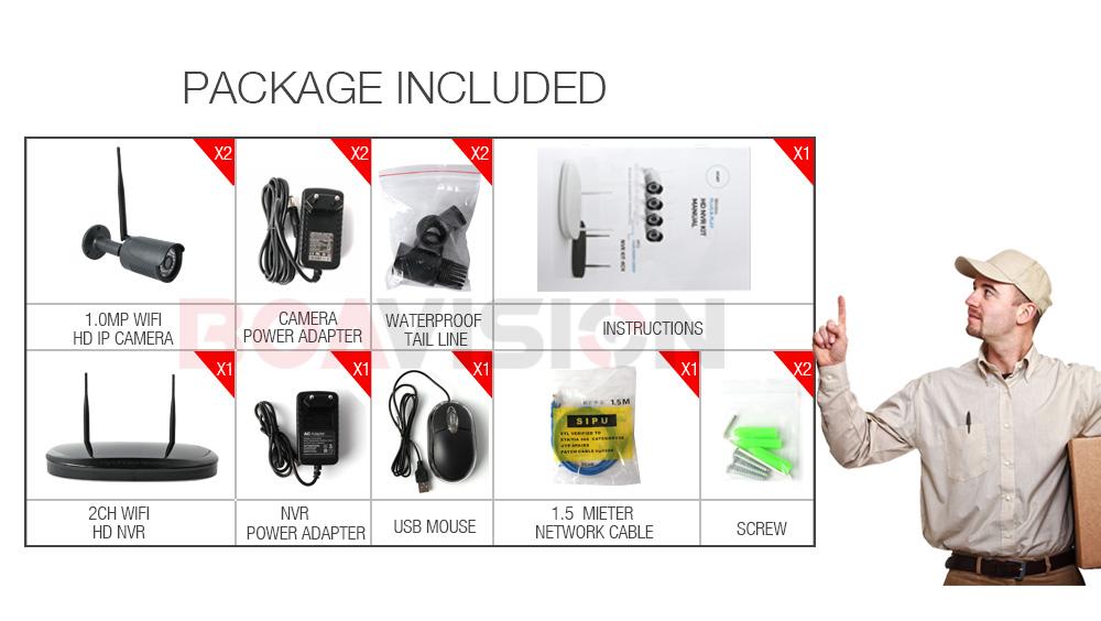 12 2ch 720p wifi camera system