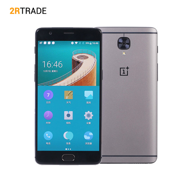 "Оригинал Oneplus 3 T Android 7.0 Мобильный Телефон 6 ГБ RAM 64 ГБ ROM FDD LTE 5.5 ""16MP 3400 мАч Quad Core Snapdragon 821 NFC Отпечатков Пальцев"