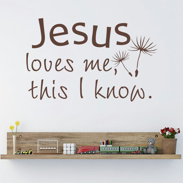 Jesus Loves Me This I Know Bible Verse Vinyl Wall Decal Christian Home Decor For Nursery  sc 1 st  AliExpress.com & Jesus Loves Me This I Know Bible Verse Vinyl Wall Decal Christian ...