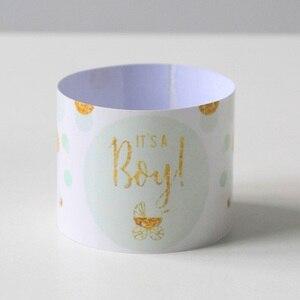 Image 3 - Bebek Duş 12 adet bir Erkek! Bu bir Kız Şişe Etiketleri Cinsiyet Reveal Parti Dekorasyon Malzemeleri Bebek Duş Erkek Kız Sopa
